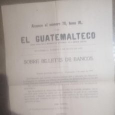 Manuscritos antiguos: DOCUMENTO ANTIGUO 1899 DIARIO GUATEMALTECO. Lote 203200272