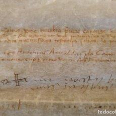 Manuscritos antiguos: PERGAMINO MANUSCRITO-1511.STA.BARBARA DE PRUNERES-OIX,ST BOI. FIRMAN G.BARUTELL Y PRELADOS.GRANDE.. Lote 203435613