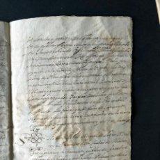 Manuscritos antiguos: HUESCA AÑO 1594 / CENSAL SOBRES CASAS Y HEREDADES EN LA CIUDAD DE HUESCA / MERCADO - IGL.SAN VICENTE. Lote 203440072