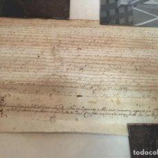 Manuscritos antiguos: (M) RIUDOMS ( TARRAGONA ) ANTIGUO DOCUMENTO PERGAMINO MANUSCRITO MEDIEVAL - ORIGINAL DE LA ÈPOCA. Lote 203880831