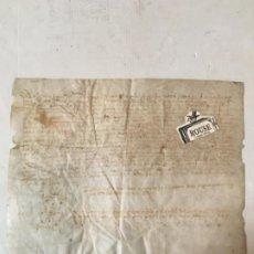 Manuscritos antiguos: (M) ANTIGUO DOCUMENTO MEDIEVAL MANUSCRITO SOBRE PERGAMINO - 32X26CM. ORIGINAL DE LA ÈPOCA. Lote 203907013