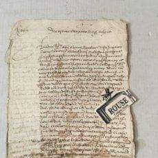 Manuscritos antiguos: (M) STA. COLOMA QUERALT 1573, MANUSCRITO ORIGINAL SOBRE PAPEL 8 PÁG. 22,5X16 CM.. Lote 204064526
