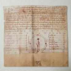 """Manuscritos antiguos: FACSÍMIL """"PRIVILEGIO RODADO E INEDITO DE LA CANCILLERÍA DE LA REINA LEONOR DE PLANTAGENET"""", AÑO 1179. Lote 204081268"""
