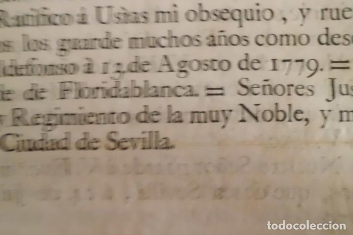 Manuscritos antiguos: SEVILLA SE OFRECE A S.M. CON MOTIVO DE LA GUERRA CONTRA INGLATERRA, AÑO 1.779 - Foto 5 - 204086482