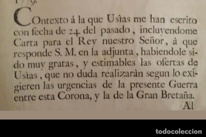 Manuscritos antiguos: SEVILLA SE OFRECE A S.M. CON MOTIVO DE LA GUERRA CONTRA INGLATERRA, AÑO 1.779 - Foto 8 - 204086482