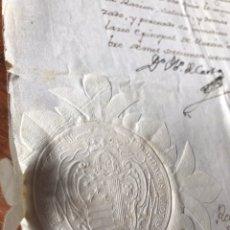 Manuscritos antiguos: NOMBRAMIENTO RECTOR COLEGIO SAN FULGENCIO DE MURCIA. 1771. SELLO OBLEA OBISPO. DIEGO DE ROXAS.. Lote 204138195