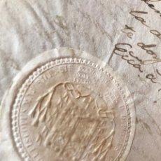 Manuscritos antiguos: SELLO CUARTO 1821. CERTIFICADO MALLORCA PARA MATRIMONIO. SELLO OBLEA OBISPO.. Lote 204178132