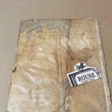 Manuscritos antiguos: (M) ANTIGUO DOCUMENTO MANUSCRITO . ENCUADERNADO EN PERGAMINO - ÈPOCA MEDIEVAL - 22PAG. 22X16,5 CM.. Lote 204181205