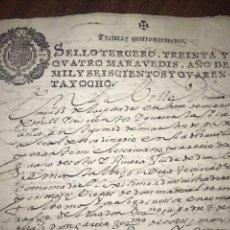 Manuscritos antiguos: SELLO TERCERO 1648. MARTÍN MUÑOZ DE POSADAS, INVENTARIO. SEGOVIA.. Lote 204187983