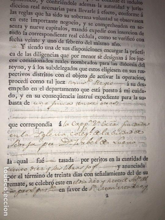 Manuscritos antiguos: MUY RARO. DESAMORTIZACIÓN 1808. BORJA. S. CUARTO LEANDRO FERNANDEZ MORATIN. FINCA DE IGLESIA COLEGIA - Foto 3 - 204189767