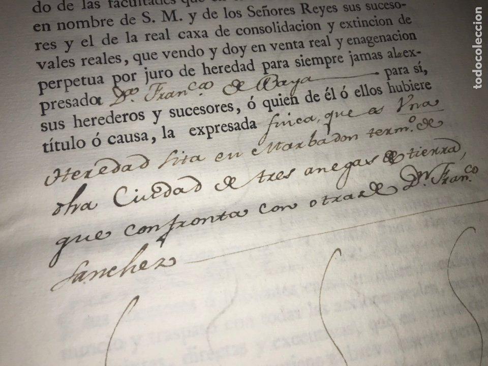 Manuscritos antiguos: MUY RARO. DESAMORTIZACIÓN 1808. BORJA. S. CUARTO LEANDRO FERNANDEZ MORATIN. FINCA DE IGLESIA COLEGIA - Foto 7 - 204189767
