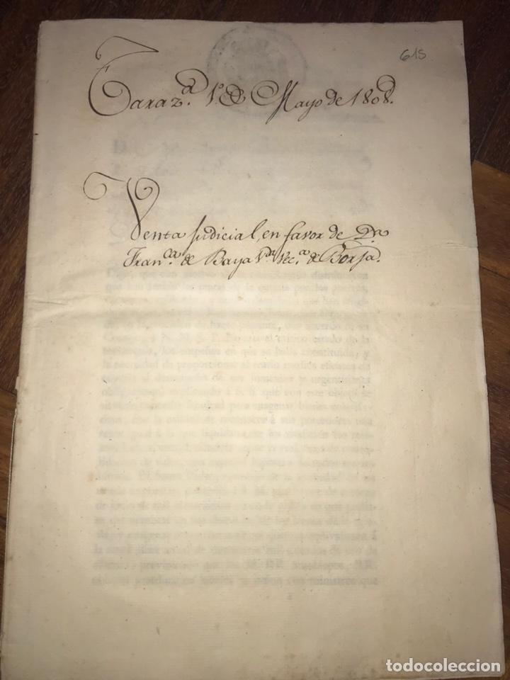 Manuscritos antiguos: MUY RARO. DESAMORTIZACIÓN 1808. BORJA. S. CUARTO LEANDRO FERNANDEZ MORATIN. FINCA DE IGLESIA COLEGIA - Foto 13 - 204189767