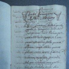 Manuscritos antiguos: MANUSCRITO AÑO 1642 CAMPANAR VALENCIA APOCA PARA EL PAGO DE UNAS MISAS - 12 PÁGINAS. Lote 204218677