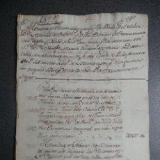 Manuscritos antiguos: BODA NOBLEZA MANUSCRITO AÑO 1785 MONDRAGÓN VALLADOLID MANUSCRITO GASTOS REALIZADOS. Lote 204379818