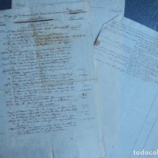 Manuscritos antiguos: MANUSCRITO AÑO 1818 MONDRAGÓN LEQUEITIO - RELACIÓN DE GASTOS. Lote 204423481