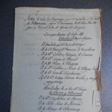 Manuscritos antiguos: NOBLEZA MANUSCRITO SIGLO XVIII MAYORAZGOS VILLASANTE Y FUNDACIONES CASA VLDE-EL-AGUILA. Lote 204424217