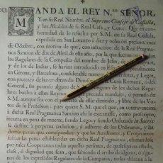 Manuscritos antiguos: VANDO, EXTRAÑADOS JESUITAS DE LAS INDIAS, NO VUELVAN A ESTE REYNO SO PENA DE MUERTE. Lote 204474377