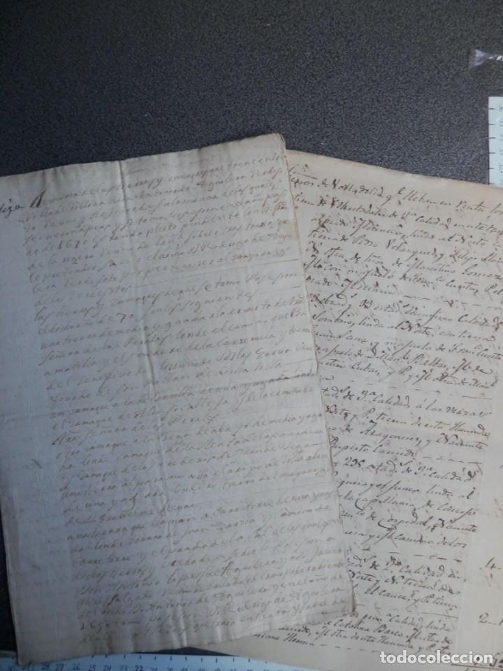 LOTE 7 MANUSCRITOS SIGLO XVII-XVIII VALLADOLID RENTAS FAMILIA VERDESOTO DIFERENTES VILLAS (Coleccionismo - Documentos - Manuscritos)