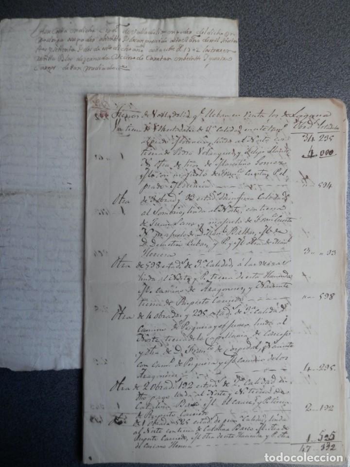 Manuscritos antiguos: LOTE 7 MANUSCRITOS SIGLO XVII-XVIII VALLADOLID RENTAS FAMILIA VERDESOTO DIFERENTES VILLAS - Foto 3 - 204483700