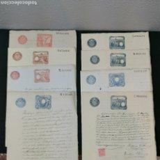 Manuscritos antiguos: TIMBROLOGIA. DOCUMENTOS MANUSCRITO. SELLOS EN COLOR AZUL, ROJO Y BURDEOS. AÑOS 1891,1892, 1893 1894. Lote 204813082