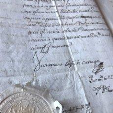 Manuscritos antiguos: CARTAGENA. NOMBRAMIENTO EXAMINADOR SINODAL. 1790. SELLO OBLEA OBISPO Y FIRMA. FUE OBISPO DE PUEBLA.. Lote 204968373