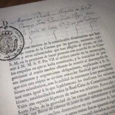 Manuscritos antiguos: MUY RARO. DESAMORTIZACIÓN 1807. BORJA, TARAZONA. LEANDRO FERNANDEZ MORATIN. ZARAGOZA.. Lote 204972808