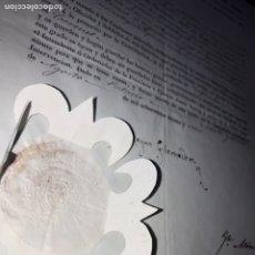 Manuscritos antiguos: NOMBRAMIENTO REINA GOBERNADORA ANTONIO SARASA, BATALLA DE PEÑACERRADA. 1838. HUESCA, CARLISMO. Lote 205245623