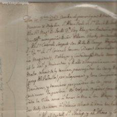 Manuscritos antiguos: ARRIBA PORT DE MAHO DUC DE YORK 1763 MENORCA LLIBRE CENSOS CASA RUBY CIUTADELLA MANUSCRIT CATALÀ. Lote 205437433