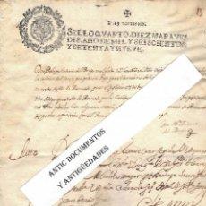 Manoscritti antichi: AÑO 1679. ANTIGUO MANUSCRITO. IZNALLOZ. GRANADA. ANTONIO DEL BURGO. CENSO PERPETUO.. Lote 205443041