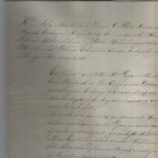 Manuscritos antiguos: LAS VESGAS BURGOS SELLO PAPEL OBISPADO BURGOS. Lote 205529713