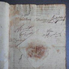 Manuscritos antiguos: PROVISIÓN REAL AÑO 1688 FISCAL 3º RARO CASTRO DEL RÍO CÓRDOBA SELLO DE LACRE PLEITO CORREGIDOR. Lote 205606136