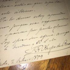 Manuscritos antiguos: CARTA MANUSCRITA Y FIRMADA RAMÓN MARTÍNEZ VIGIL (SANTA MARÍA DE TIÑANA. Lote 205644661