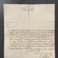Manuscritos antiguos: 1787 - CARTA DIRIGIDA AL PAPA PIO VI SOLICITANDO LA INSTITUCIÓN DE UNA CAPILLA PRIVADA EN BARCELONA. Lote 205698526