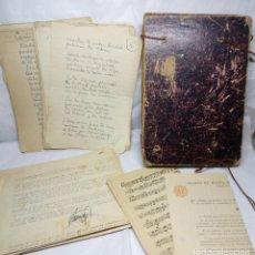 Manuscritos antiguos: RECOPILACIÓN DE MANUSCRITOS, HIMNOS Y NOVELA DE JULIO MENÉNDEZ GARCÍA (IMPULSOR DEL DÍA DE LA MADRE). Lote 205710803