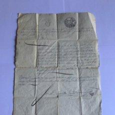 Manuscritos antiguos: DOCUMENTO ORIGINAL MANUSCRITO CON SELLO AÑO 1849 (G). Lote 205721741