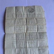 Manuscritos antiguos: DOCUMENTO ORIGINAL MANUSCRITO CON SELLO AÑO 1845 (G). Lote 205724455