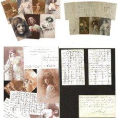 Manuscritos antiguos: CONJUNTO DE 32 POSTALES DE FRANCISCO FRANCO BAHAMONDE A SOFIA SUBIRAN - AÑO 1913 - UNICO! RARISIMO!. Lote 205738020