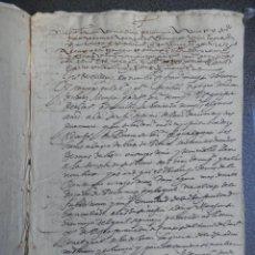 Manuscritos antiguos: MANUSCRITO AÑO 1596 TOLEDO CUENTAS DEL CANONIGO ACTUANDO COMO CURADOR - BONITA LETRA. Lote 225028775