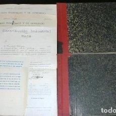 Manuscritos antiguos: 2 LIBROS DE VENTAS DE ABONOS Y PANADERÍA DE SIERO, ASTURIAS + HOJAS LIQUIDACIÓN DE IMPUESTOS. 1928.. Lote 205785517