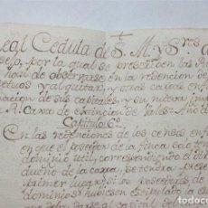 Manuscritos antiguos: MANUSCRITO DE 1805 DE VARIOS CAPÍTULOS DE LAS REGLAS SOBRE REDENCIONES DE CENSOS. Lote 205802537