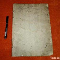 Manuscritos antiguos: INTERESANTE LIBRO MANUSCRITO NOTARIAL. MUCHAS PÁGINAS. FINALES 1500-PRINCIPIOS 1600.. Lote 205805392