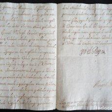 Manuscritos antiguos: AUTOGRAFO FELIPE V. 'ARAGON,VALENCIA,MURCIA Y CATALUÑA.PROVISION DE HOSPITALES' 1733 MANUSCRITO. Lote 205836587