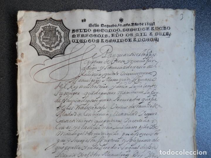 Manuscritos antiguos: MANUSCRITO AÑO 1639 FISCAL 2º RARO Y LUJO MADRID ESCRITURA VENTA Y CENSO 32 PÁGINAS - Foto 2 - 206180271