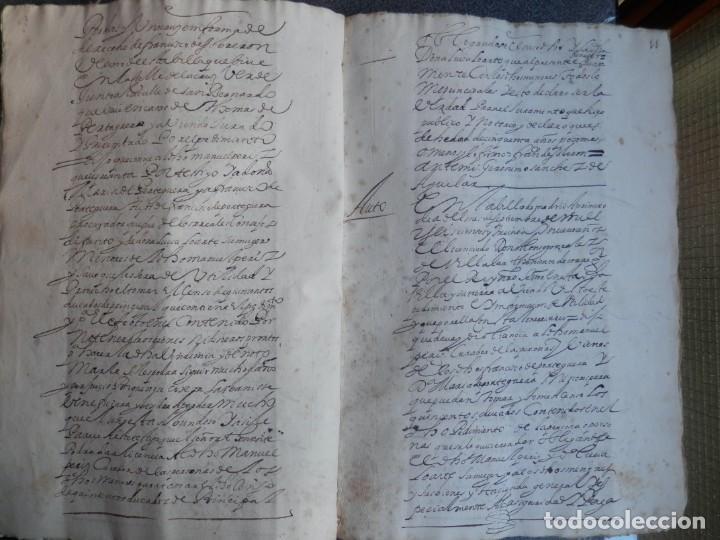 Manuscritos antiguos: MANUSCRITO AÑO 1639 FISCAL 2º RARO Y LUJO MADRID ESCRITURA VENTA Y CENSO 32 PÁGINAS - Foto 3 - 206180271