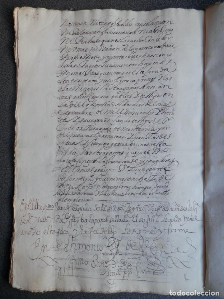 Manuscritos antiguos: MANUSCRITO AÑO 1639 FISCAL 2º RARO Y LUJO MADRID ESCRITURA VENTA Y CENSO 32 PÁGINAS - Foto 5 - 206180271