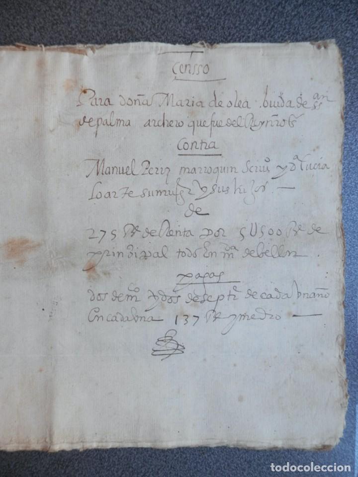 Manuscritos antiguos: MANUSCRITO AÑO 1639 FISCAL 2º RARO Y LUJO MADRID ESCRITURA VENTA Y CENSO 32 PÁGINAS - Foto 6 - 206180271