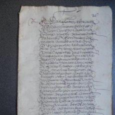 Manuscritos antiguos: MANUSCRITO AÑO 1610 MADRID ESCRITURA RECONOCIMIENTO DE CENSO BONITA LETRA ENCADENADA - LUJO. Lote 206180576