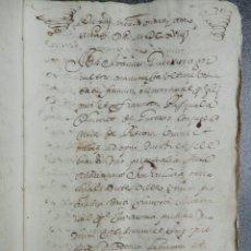 Manuscritos antiguos: MANUSCRITO AÑO 1618 PATERNA VALENCIA ESTABLECIMIENTO DE CENSO 13 PÁGINAS REFUERZO PERGAMINO. Lote 206181892