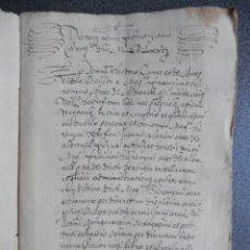 Manuscritos antiguos: MANUSCRITO AÑO 1576 VALENCIA IMPOSICIÓN DE VARIOS CENSALES 38 PÁGS BONITA LETRA. Lote 206186556
