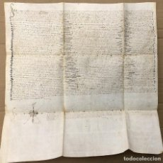 Manuscritos antiguos: VENTA DE CENSAL SOBRE EL LUGAR DE PINSEQUE. ARAGON. AÑO 1500. Lote 206216408